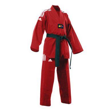 Кимоно для тхэквондо Adidas Champion Uniform красное (добок)