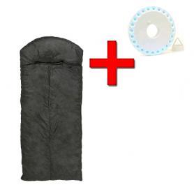 Фото 1 к товару Мешок спальный (спальник) Mountain Outdoor черный широкий + подарок