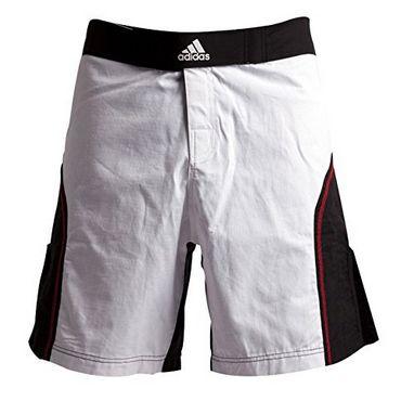 Шорты для ММА Adidas ADICSS53 бело-черные