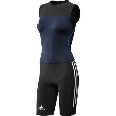 Комбинезон для тяжелой атлетики женский Adidas WL CL SUIT W синий