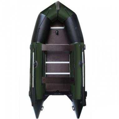 Лодка надувная моторная килевая Aquastar K-390 зеленая