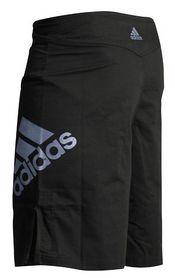 Фото 2 к товару Шорты для MMA Adidas ADICSS52 черно-серебристые