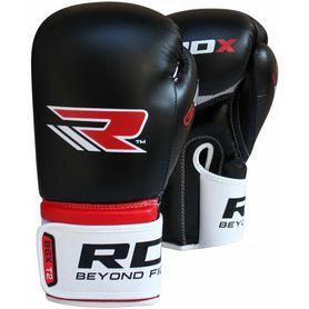 Фото 2 к товару Перчатки боксерские RDX Rex Leather Black