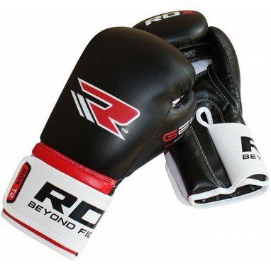 Перчатки боксерские RDX Rex Leather Black