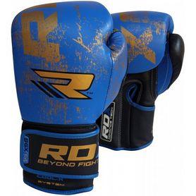 Фото 5 к товару Перчатки боксерские RDX Ultra Gold Blue