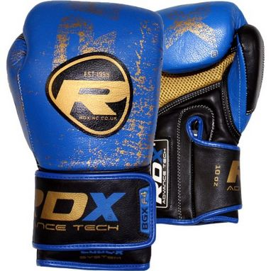 Перчатки боксерские RDX Ultra Gold Blue