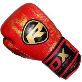 Фото 2 к товару Перчатки боксерские RDX Ultra Gold Red