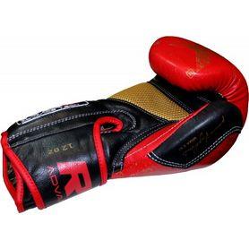 Фото 3 к товару Перчатки боксерские RDX Ultra Gold Red