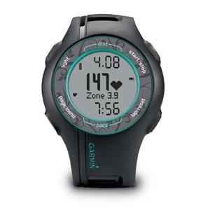 Спортивные часы Garmin Forerunner 210 HR черные с бирюзовым