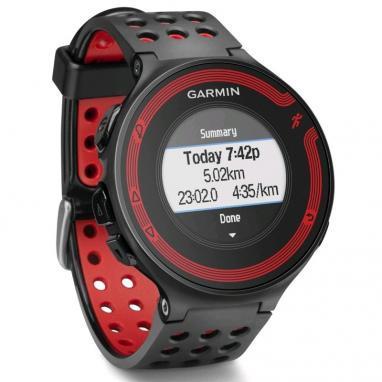 Спортивные часы Garmin Forerunner 220 черные с красным