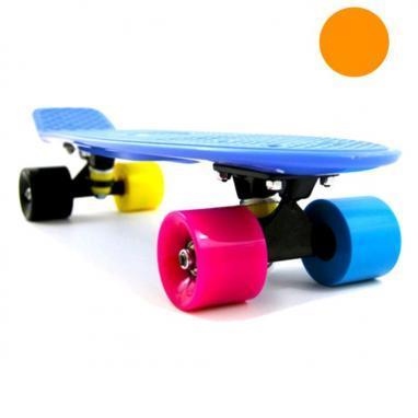 Скейтборд Penny Cruiser Fish X-5 life 22-OIY оранжевый