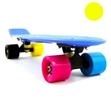 Скейтборд Penny Cruiser Fish X-5 life 22-OIY желтый