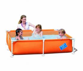 Фото 1 к товару Бассейн детский каркасный 56217 Bestway (122х122х30,5 см) оранжевый