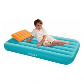 Фото 1 к товару Матрас надувной детский Intex 66801 (157х88х18 см) голубой