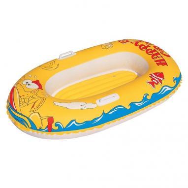 Лодочка надувная с ручками Bestway 34009 (137х89 см) желтая