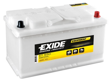 Аккумулятор кислотный Exide Equipment ET 650