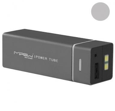 Устройство зарядное MiPow Power Tube 5500 серебристое