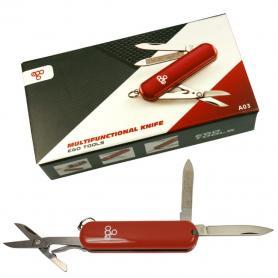 Нож швейцарский Ego Tools A03 красный