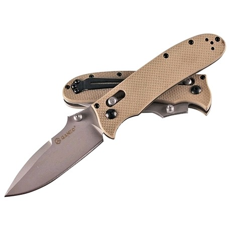 Нож складной Ganzo G704 желтый