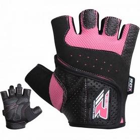 Фото 2 к товару Перчатки для фитнеса женские RDX Ladies Lifting Gloves Pink