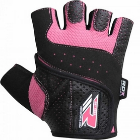 Фото 5 к товару Перчатки для фитнеса женские RDX Ladies Lifting Gloves Pink