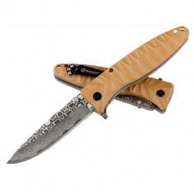 Фото 2 к товару Нож складной Ganzo G620y желтый с травлением