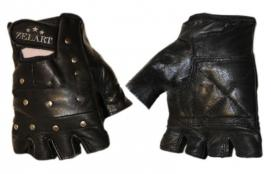 Перчатки для фитнеса (кожа) с заклепками ZLT - L