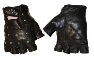 Перчатки для фитнеса (кожа) с заклепками ZLT
