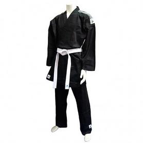 Кимоно для карате Adidas K270 черное с полосами