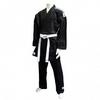 Кимоно для карате Adidas K270 черное с полосами - фото 1