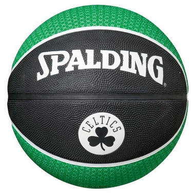 Мяч баскетбольный резиновый Spalding NBA Team Basketball-Celtics 73935Z