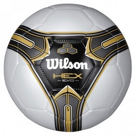 Фото 1 к товару Мяч футбольный Wilson Hex Evo SB SZ5 Gold Bulk SS14