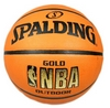 Мяч баскетбольный резиновый Spalding NBA Gold Outdoor 73299Z - фото 1