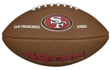 Мяч для американского футбола Wilson NFL Mini Team Logo Football SF SS15