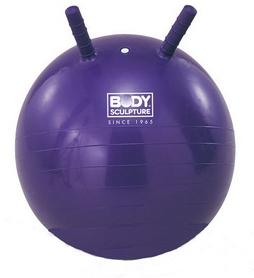 Мяч попрыгун с рожками Body Sculpture 55 см