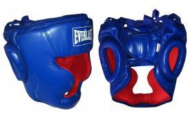 Шлем боксерский закрытый Everlast синий - L