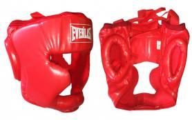 Шлем боксерский закрытый Everlast красный - S