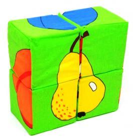 """Набор мягких кубиков """"Фрукты"""" 4 шт."""