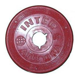 Диск пластиковый 0,5 кг Inter Atletika цветной - 26 мм