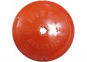 Диск пластиковый 5 кг Inter Atletika цветной - 26 мм