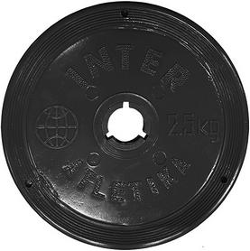 Диск пластиковый 2,5 кг Inter Atletika - 26 мм