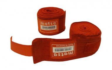 Бинт боксерский Matsa (2.5 м) красный
