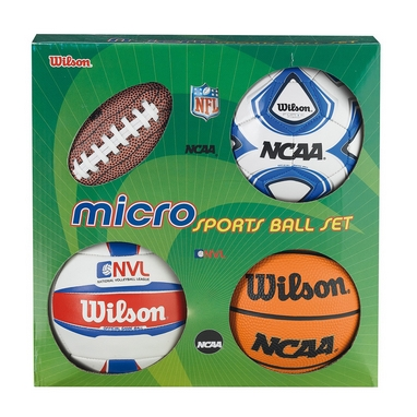 Набор из 4-х мини-мячей Wilson Micro Sports 4 Ball Kit SS14