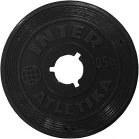 Диск пластиковый 0,5 кг Inter Atletika - 26 мм