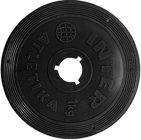 Диск пластиковый 1 кг Inter Atletika - 26 мм