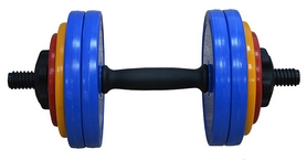 Фото 1 к товару Гантель наборная Inter Atletika 13,82 кг цветная