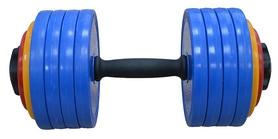Гантель наборная Inter Atletika 23,82 кг цветная
