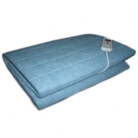 Фото 1 к товару Электропростынь(электроодеяло) Electric Blanket двуспальное синяя