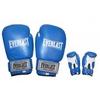 Перчатки боксерские Everlast Target BO-3340-B кожаные синие - фото 1