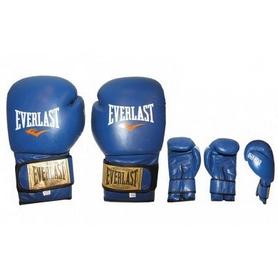 Фото 2 к товару Перчатки боксерские Everlast VL-0106-B кожаные синие